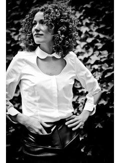 Van Jos 'Van Jos' witte open blouse maat 38