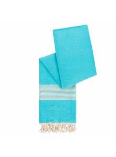 Happy Towels Hamamdoek van Bamboe Aquablauw