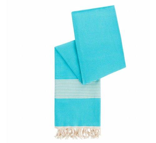 Happy Towels Hamamdoek van Bambo Aquablauw