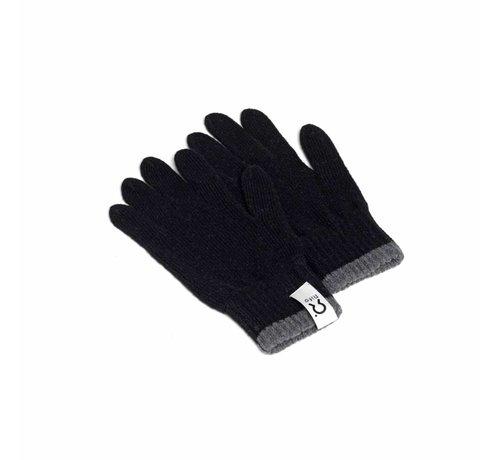 Rifo Rifo Cashmere Handschoenen Bertolucci Grijs Zwarte Bies