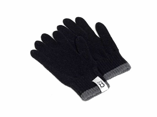 Rifo Rifo Handschoenen Bertolucci Grijs Zwarte Bies