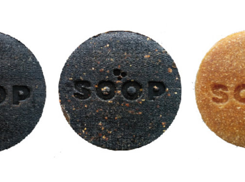 BeeBlue SOOP circulaire zeep gemaakt van  koffiedik.
