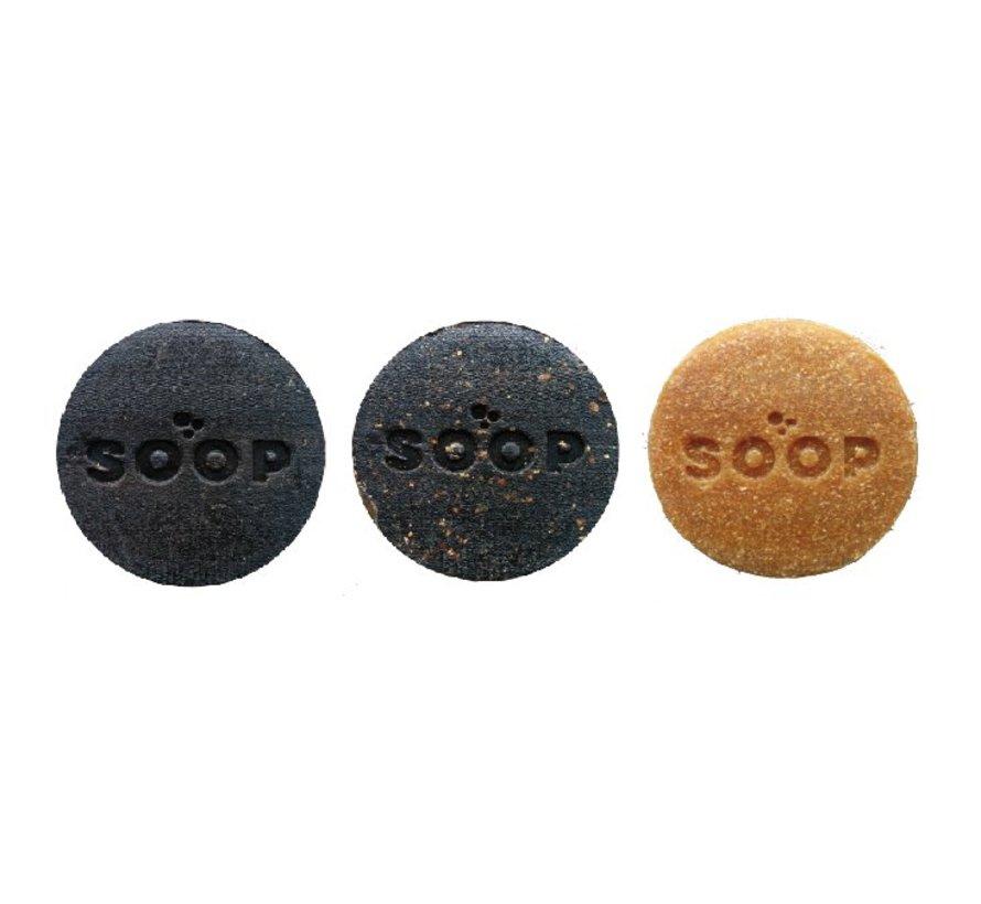 SOOP circulaire zeep gemaakt van  sinaasappelschil en sinaasappeljus