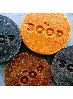 BeeBlue SOOP circulaire zeep gemaakt van  koffiedik en sinaasappelschil