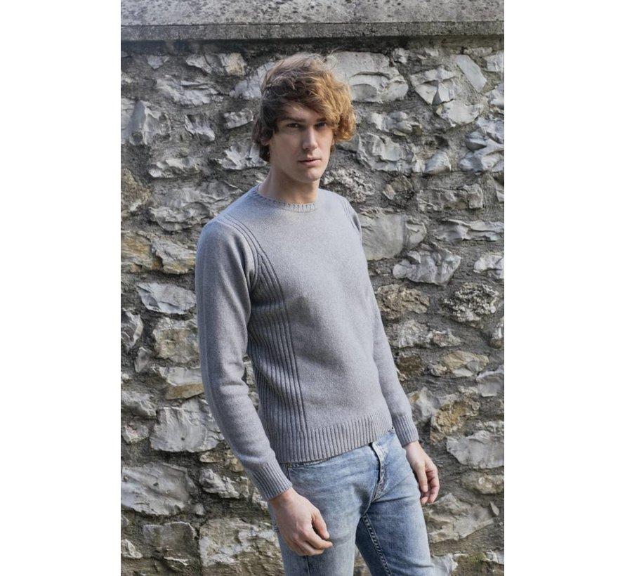 Rifo Recycled Cashmere Sweater Roberto blauw