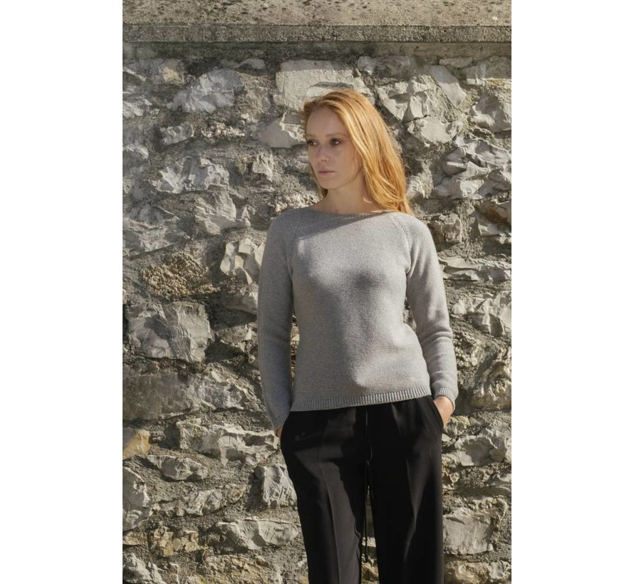 Rifo Recycled Cashmere Sweater Giulietta Grijs