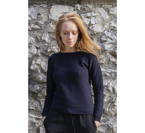Rifo Recycled Cashmere Sweater Giulietta blauw