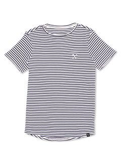 The Driftwood Tales T-shirt blauw-wit gestreept