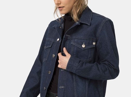 Mud Jeans Mud Jeans Tyler Unisex Denim Jacket - Strong Blue