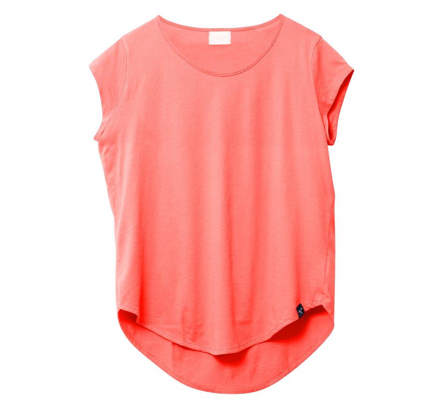 Tshirt - recycled jersey - Koraalrood