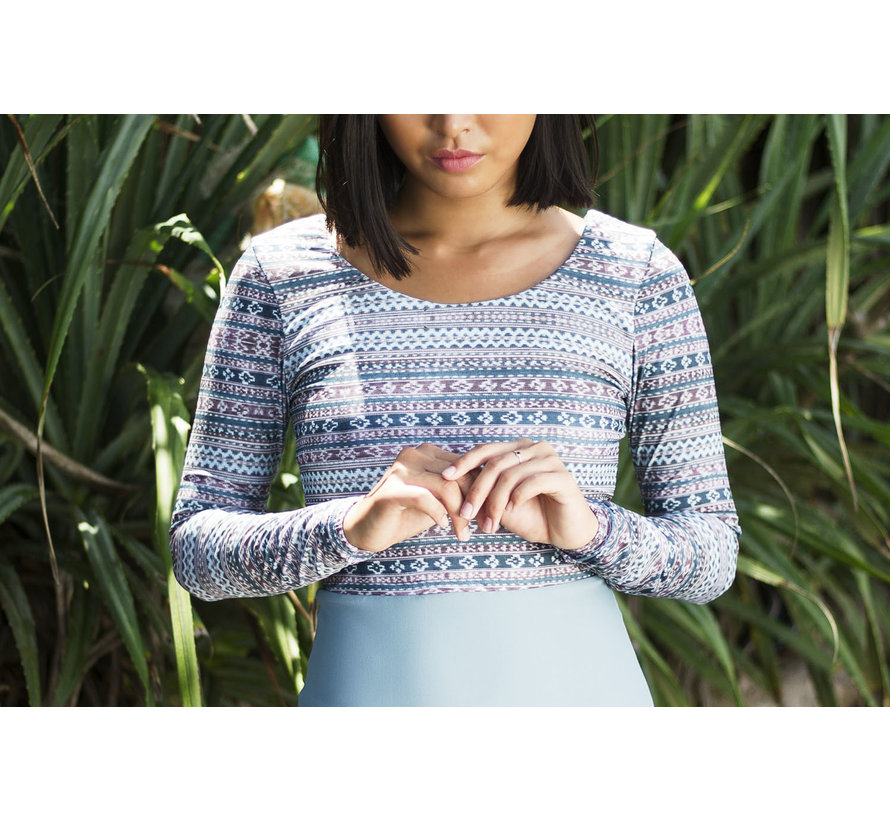 Curms Recycled Lowrise Longsleeve Cray Blue