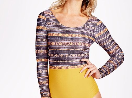 Curms Curms Recycled Longsleeve Mustard