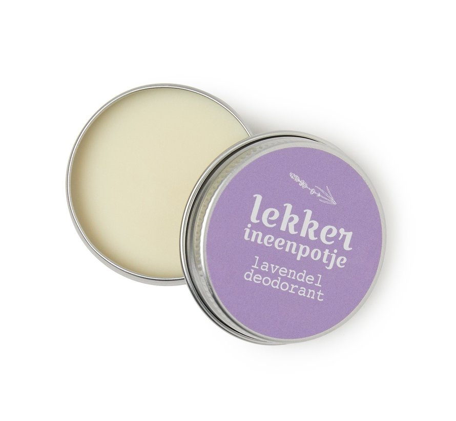 Lekker in een Potje deodorant Lavendel