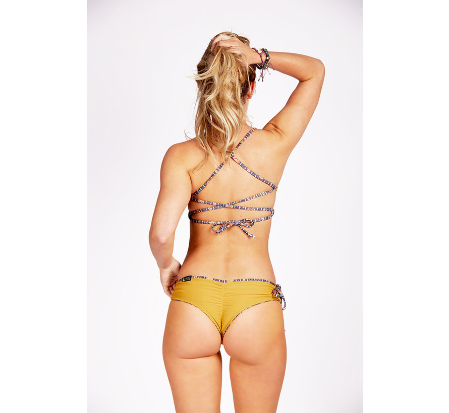 CURMS Recycled Sport Top Mustard