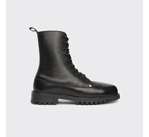 TD leather boots TD leather Boots Bokina black waxy