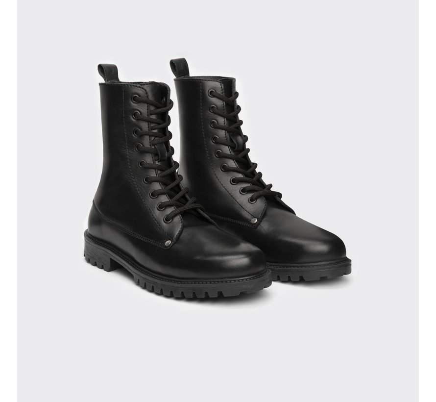 TD leather Boots Bokina black waxy