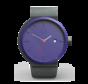 Het circulaire Perky Peacock horloge van Circular Clockworks met Zwarte polsband