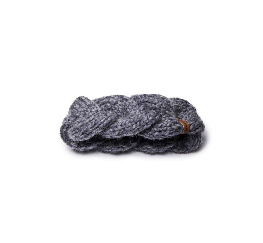 Granny's finest hoofdband wol ali in grijs