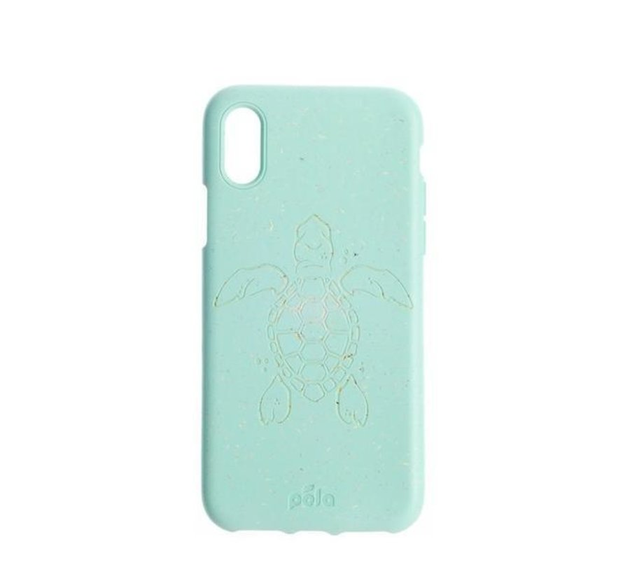 Pela phone case, telefoonhoesje, Apple Iphone XS Max Turtle Turquoise