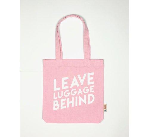 Chicken or Pasta Chicken or Pasta Pink Tote Bag met opdruk Leave Luggage Behind