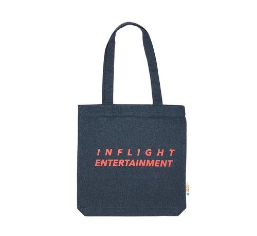 Chicken or Pasta Chicken or Pasta Navy Tote Bag met opdruk Inflight Entertainment