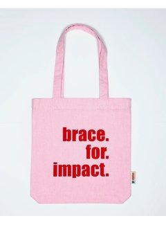 Chicken or Pasta Tas Brace for Impact - Pink