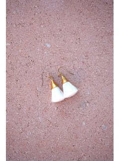 Phemke Resort Wear Witte kleine tassel oorbellen