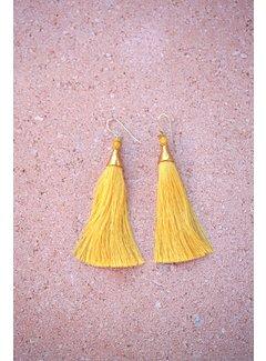 Phemke Resort Wear Gele 'tassel' Oorbellen