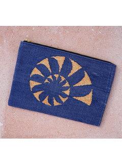 Phemke Resort Wear Dhurrie Clutch Blauw