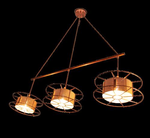 Tolhuijs Design Hanglamp - Spool Triple Basic   in meerdere kleuren te verkrijgen