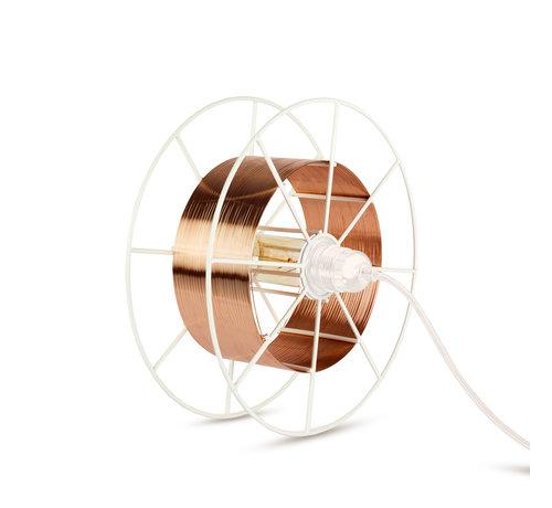 Tolhuijs Design Sta/Tafellamp - Spool Floor White  in meerdere kleuren te verkrijgen