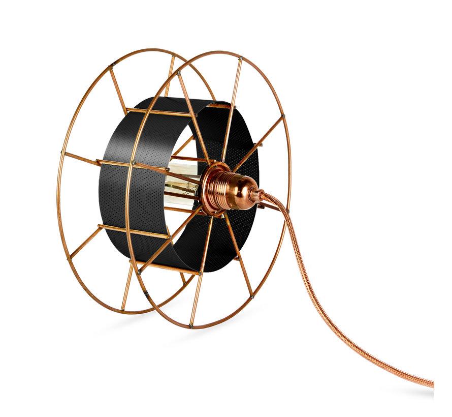 Sta/Tafellamp - Spool Floor Black in meerdere kleuren te verkrijgen