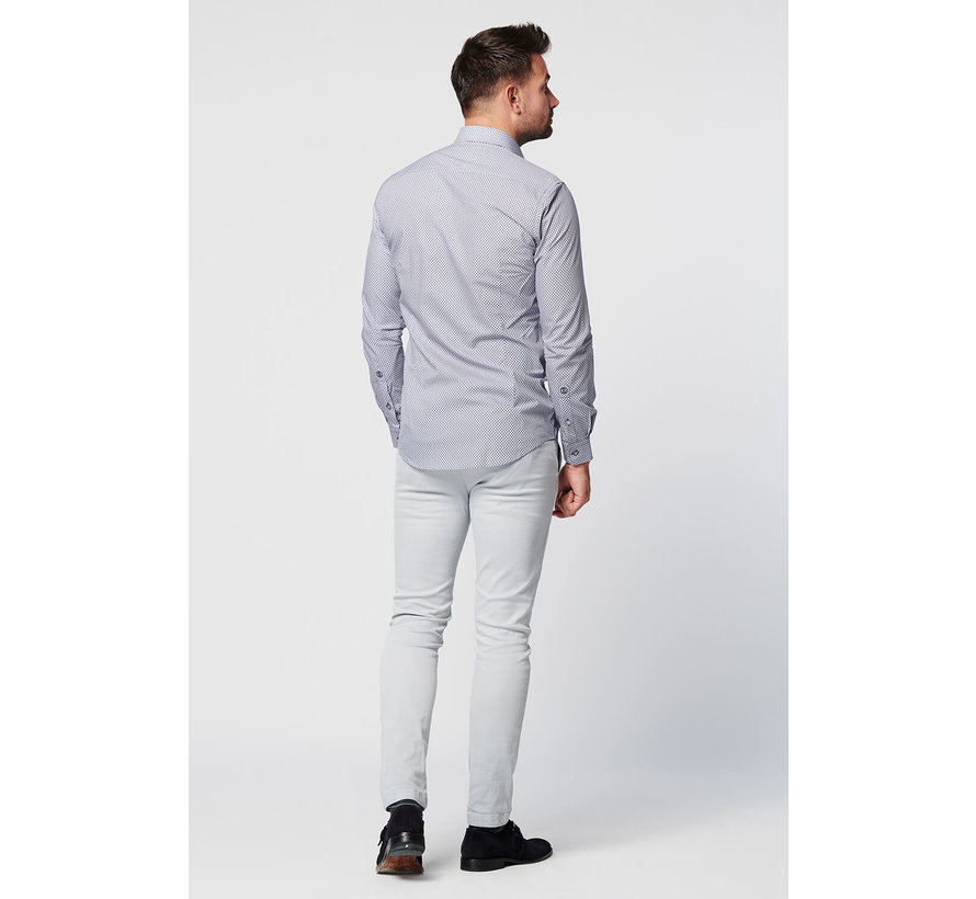 SKOT Fashion duuzaam overhemd met een grijs patroon