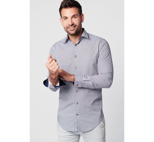 SKOT Fashion SKOT Fashion duuzaam overhemd met een grijs patroon