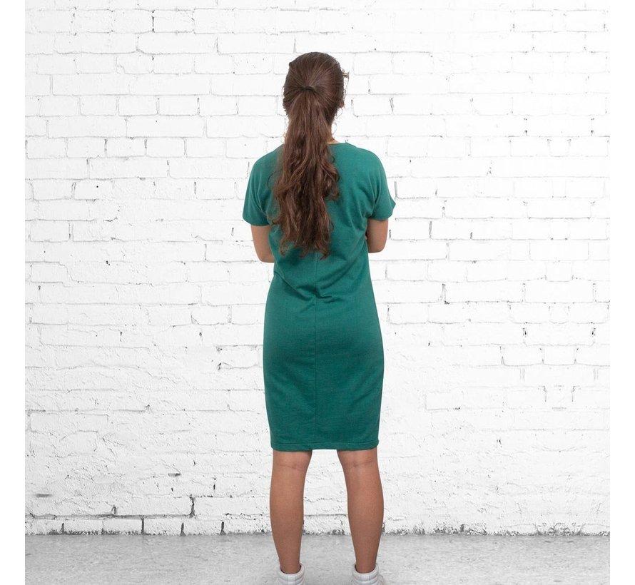 The Driftwood Tales een jurk van gerecyclede sweatstof