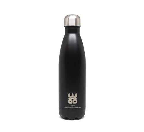 WOO WOO Waterbottle - Keep 'm Cool and Hot Geur:  Black