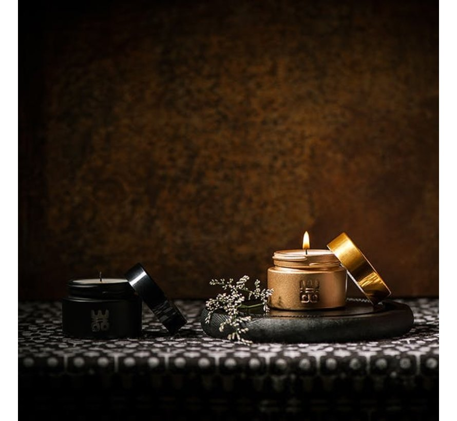 WOO Travel Candle Black Geur:  Tranquility
