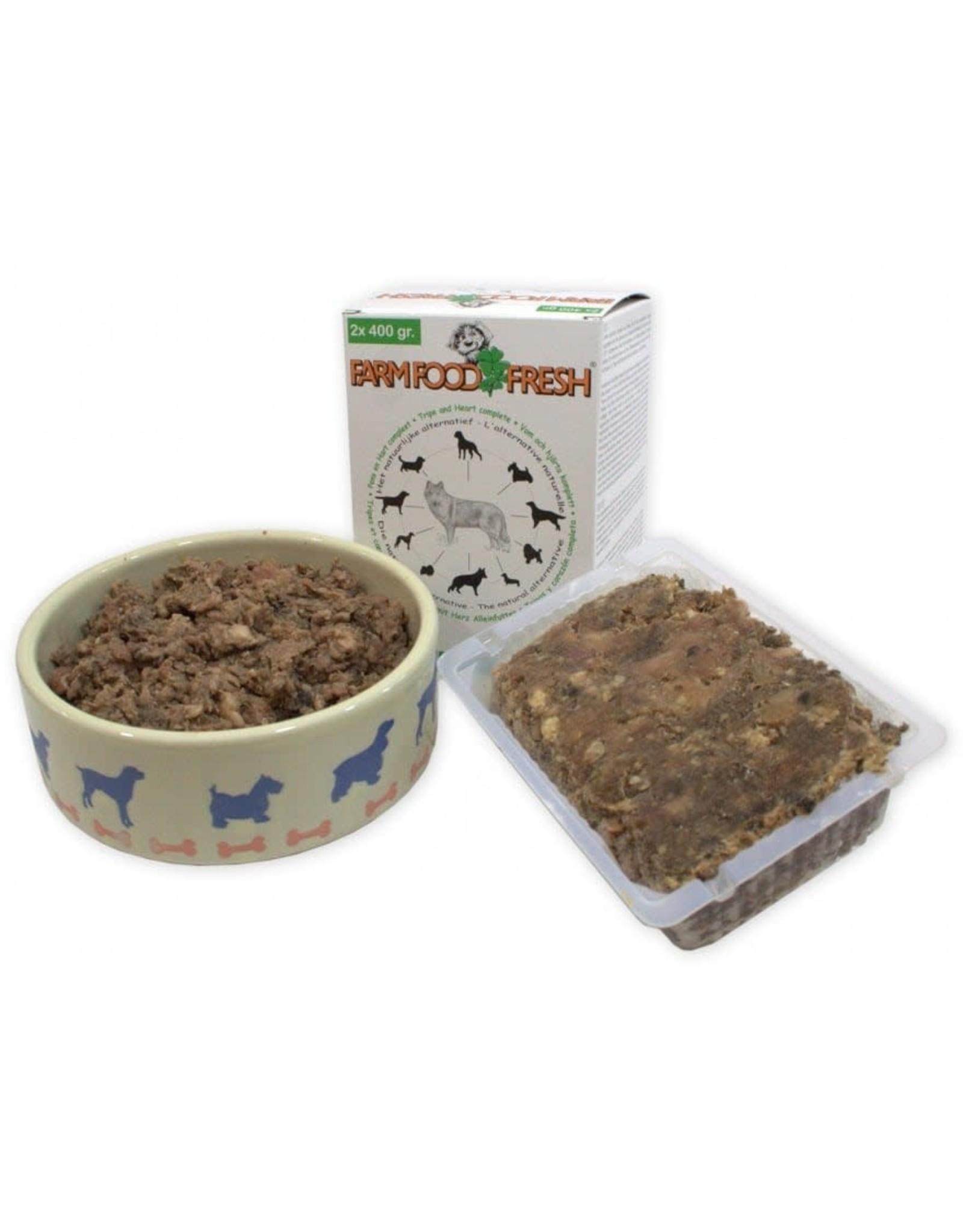 Farm Food bakjes 2x400 gr. - pens-hart compleet - 800 gr.