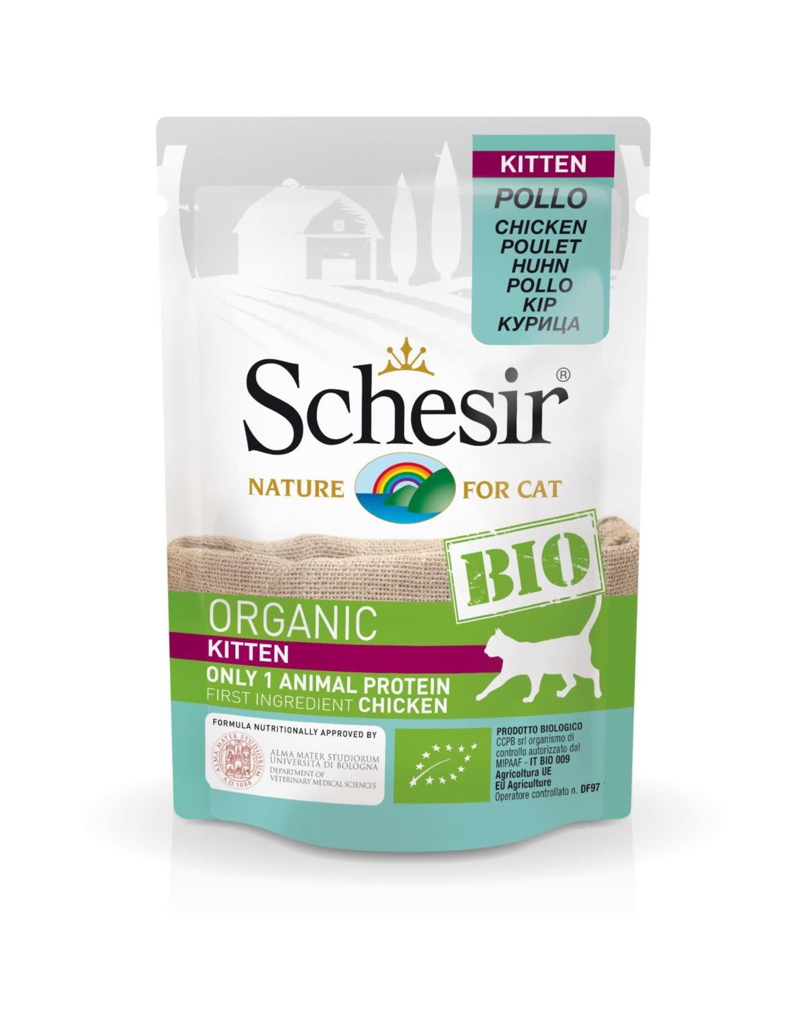 Schesir kitten bio chicken 85 gr