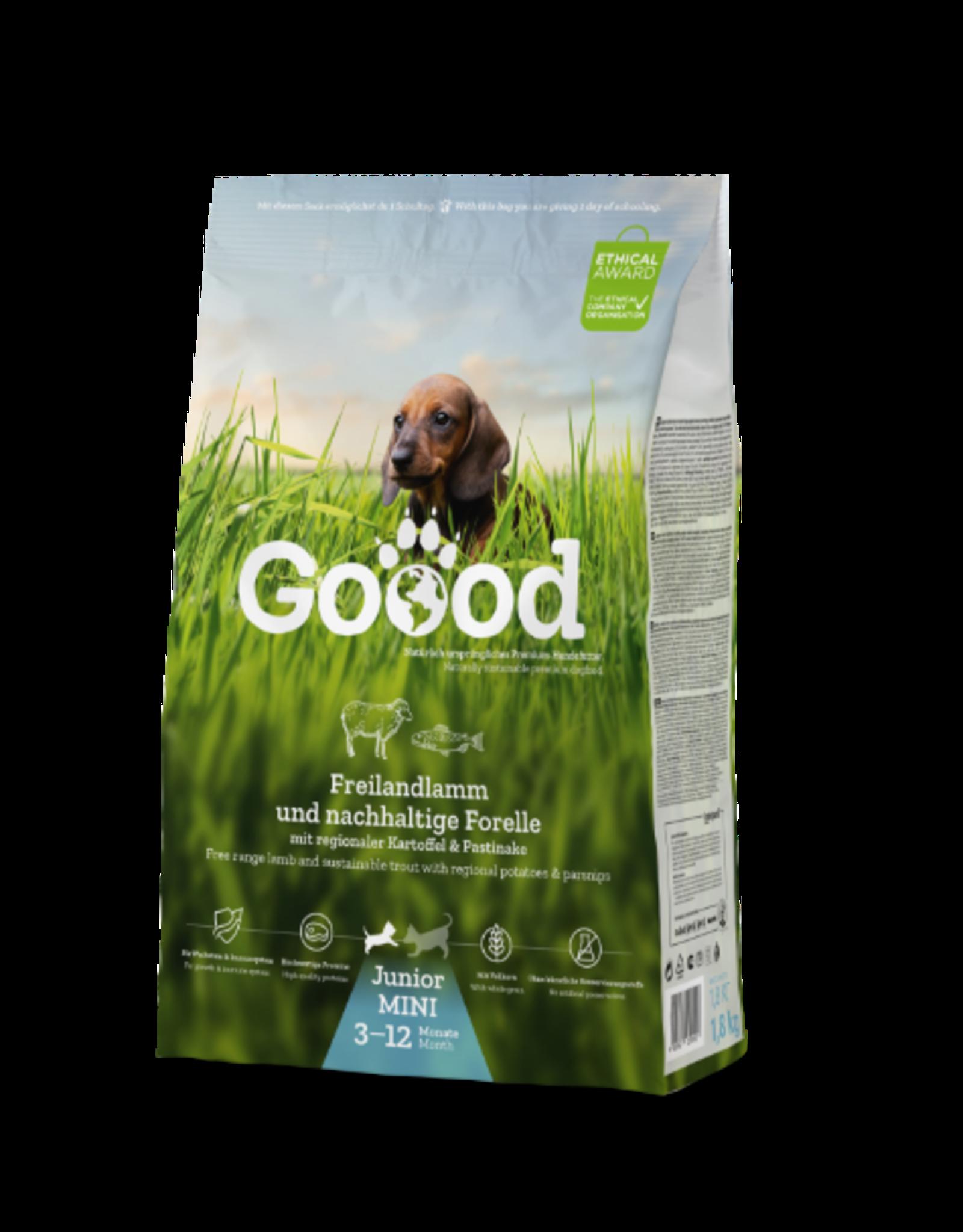 Goood Goood Mini Junior Vrije uitloop lam & duurzame forel- brok - 1,8 kg