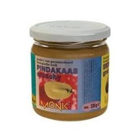 Monki Pindakaas crunchy met zout eko