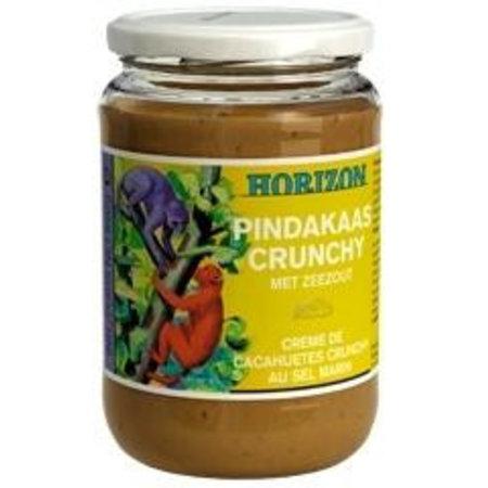 Horizon Pindakaas crunchy met zeezout eko