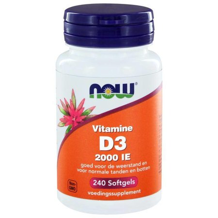 NOW Vitamine D3 2000IE