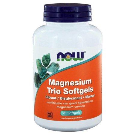 NOW Magnesium trio softgels