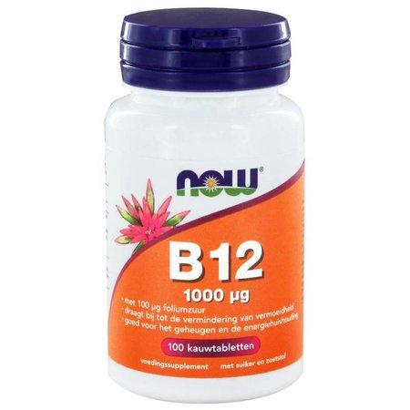 NOW Vitamine B12 1000 mcg en Foliumzuur 100 mcg
