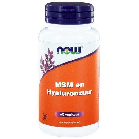 NOW MSM 450 mg en Hyaluronzuur 50 mg