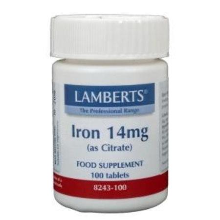 Lamberts IJzer citraat 14 mg