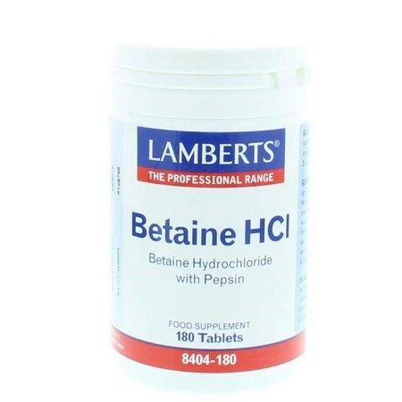 Lamberts Betaine HCI 324 mg / Pepsine 5 mg