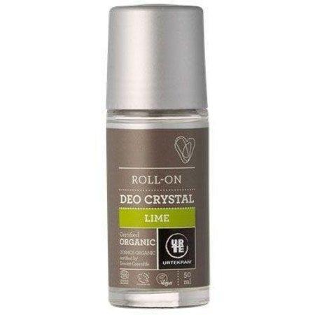 Urtekram Deodorant crystal roll on limoen