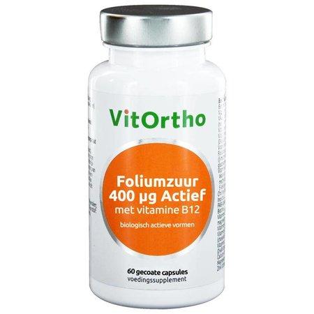 Vitortho Foliumzuur 400 mcg met vitamine B12